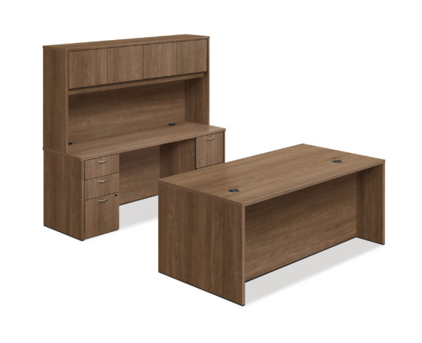 foundation executive management private office desk and credenza