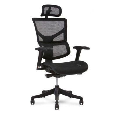 x1 black mesh office task chair