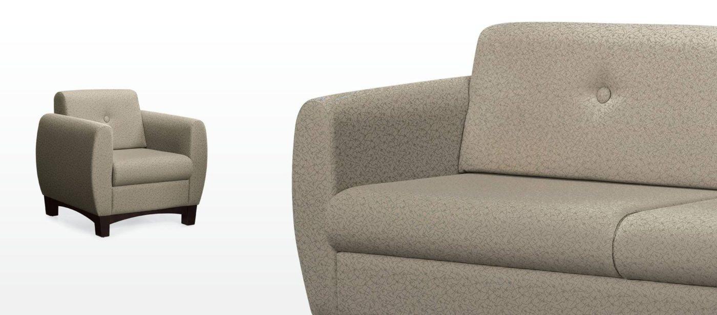 global prairie series reception lounge seating chair
