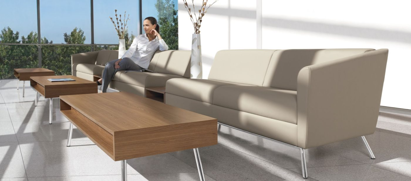 global wind linear series reception lounge seating chair