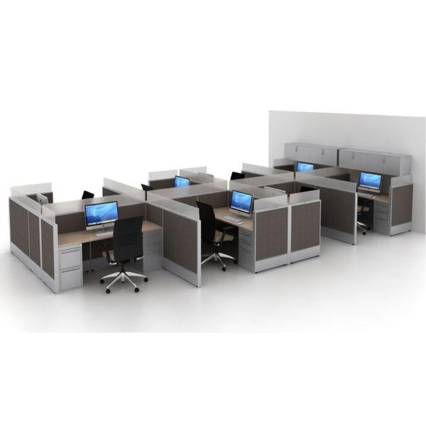 seamless glass work stations